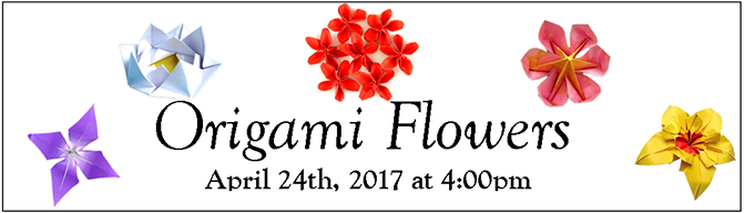 Origami Flowers Banner 2017