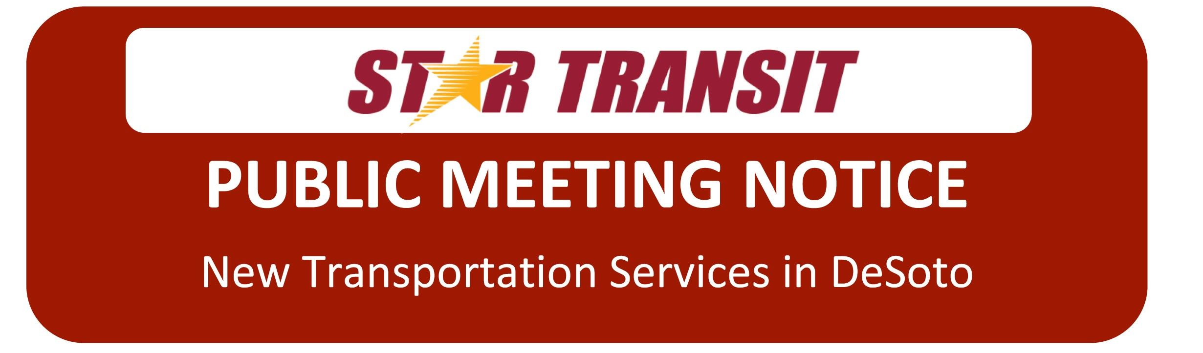 Star Transportation Mtg notice logo