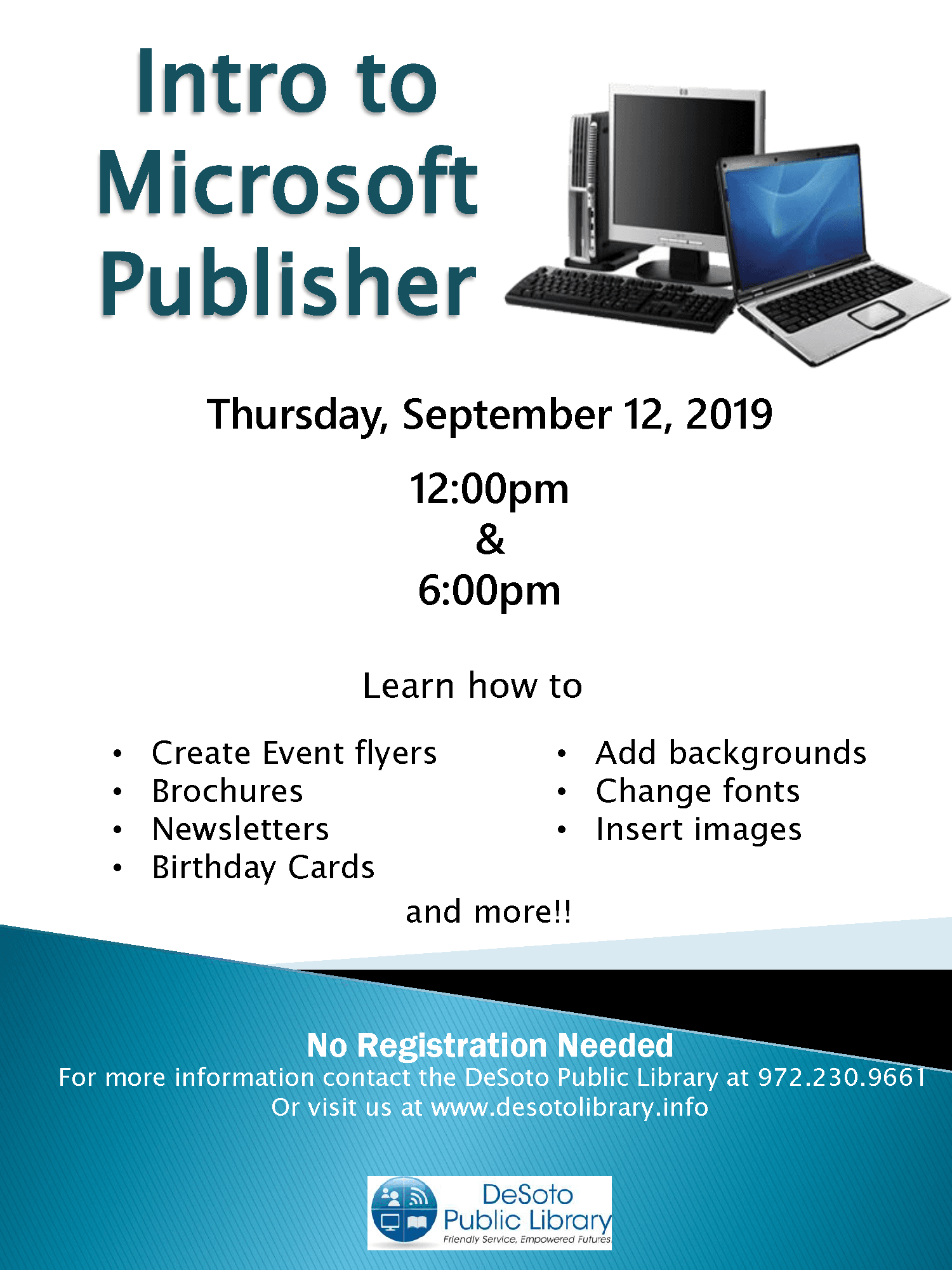 Intro to Microsoft Publisher September 2019