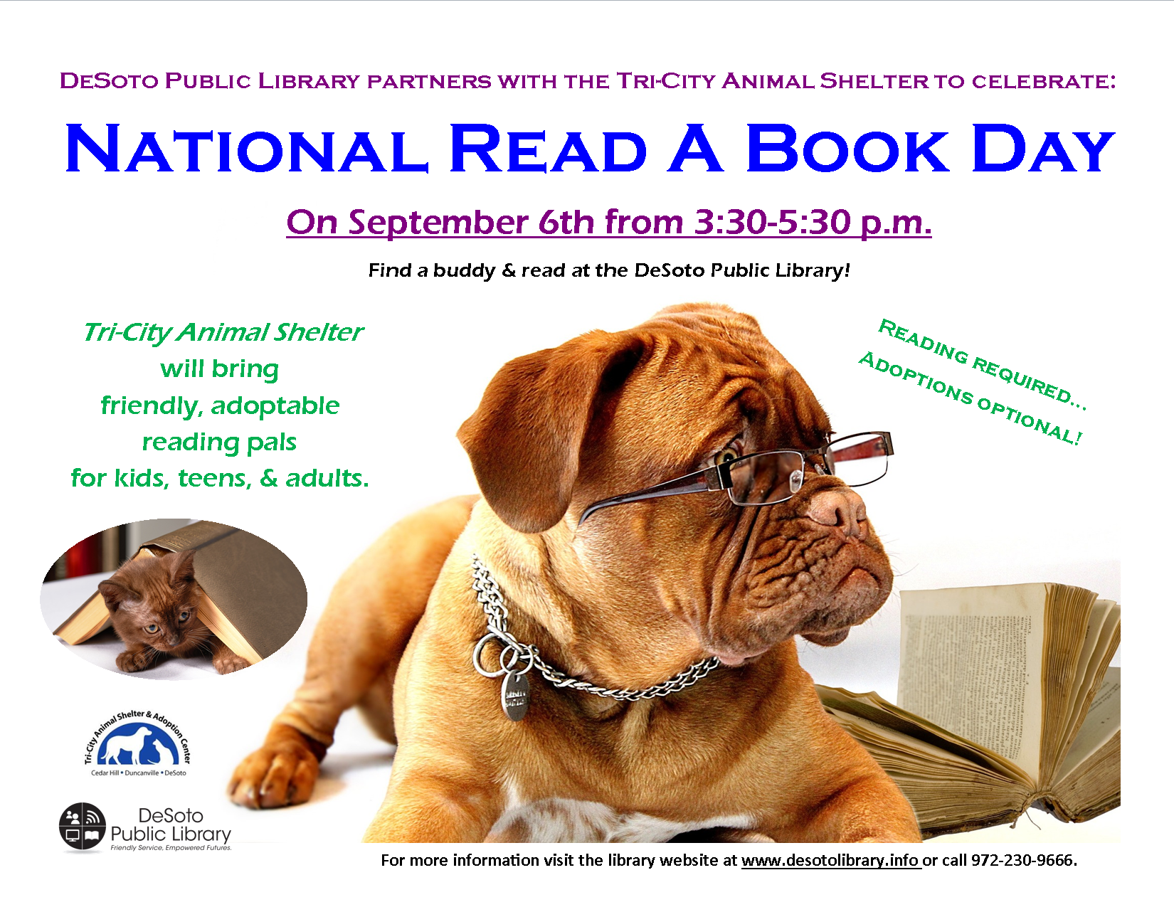 Read a Book Day 2019 flyer