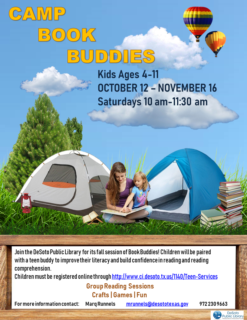 Fall 2019 Camp Book Buddies flyer