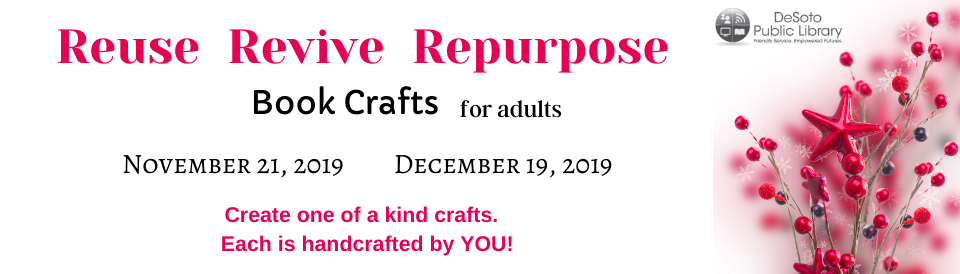 Crafts for Adults November - December 2019 banner