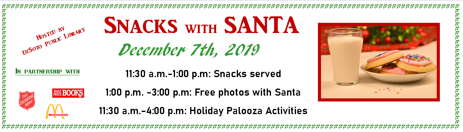 Snacks with Santa 2019 banner