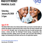 Teen Money Matters & Mad City Money Financial Class flyer