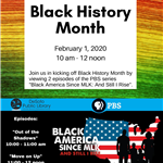 Black History Month 2020 launch event flyer