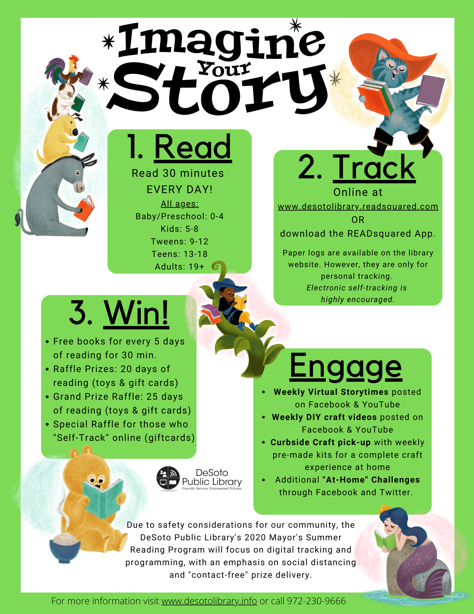 Grayscale Youth Summer Reading Program 2020 Info Sheet