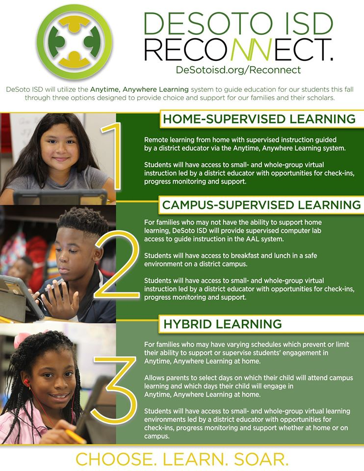 DeSoto ISD Reconnect-Learning Options image