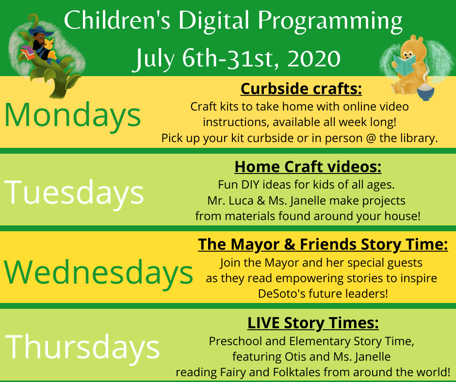 Summer Reading Digital Programming - Click here for more information