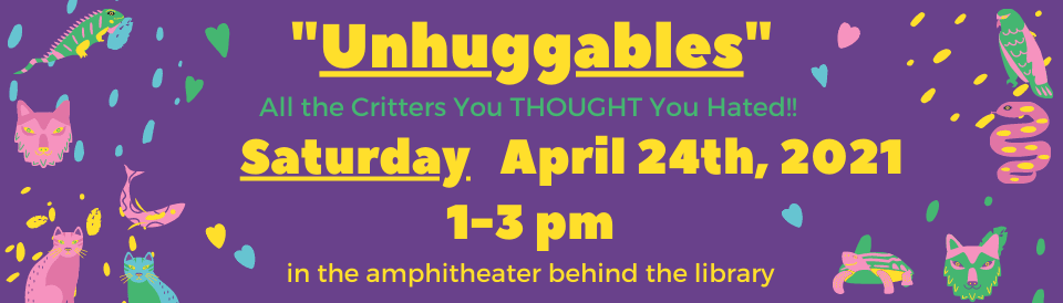Unhuggables Event April 2021 banner